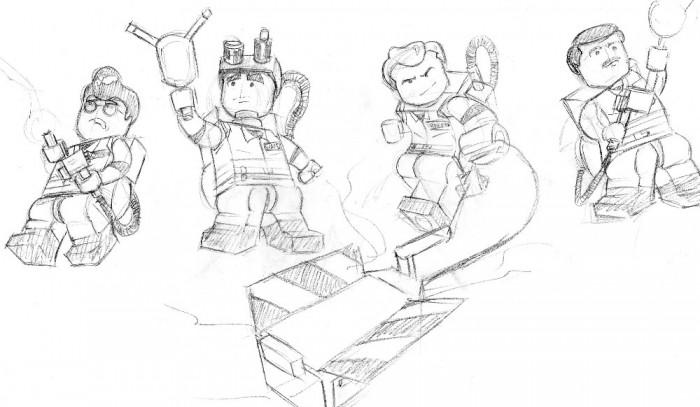 Ejlambert S Lego Ghostbusters Sketch Fan Art Ghostbusters Fans